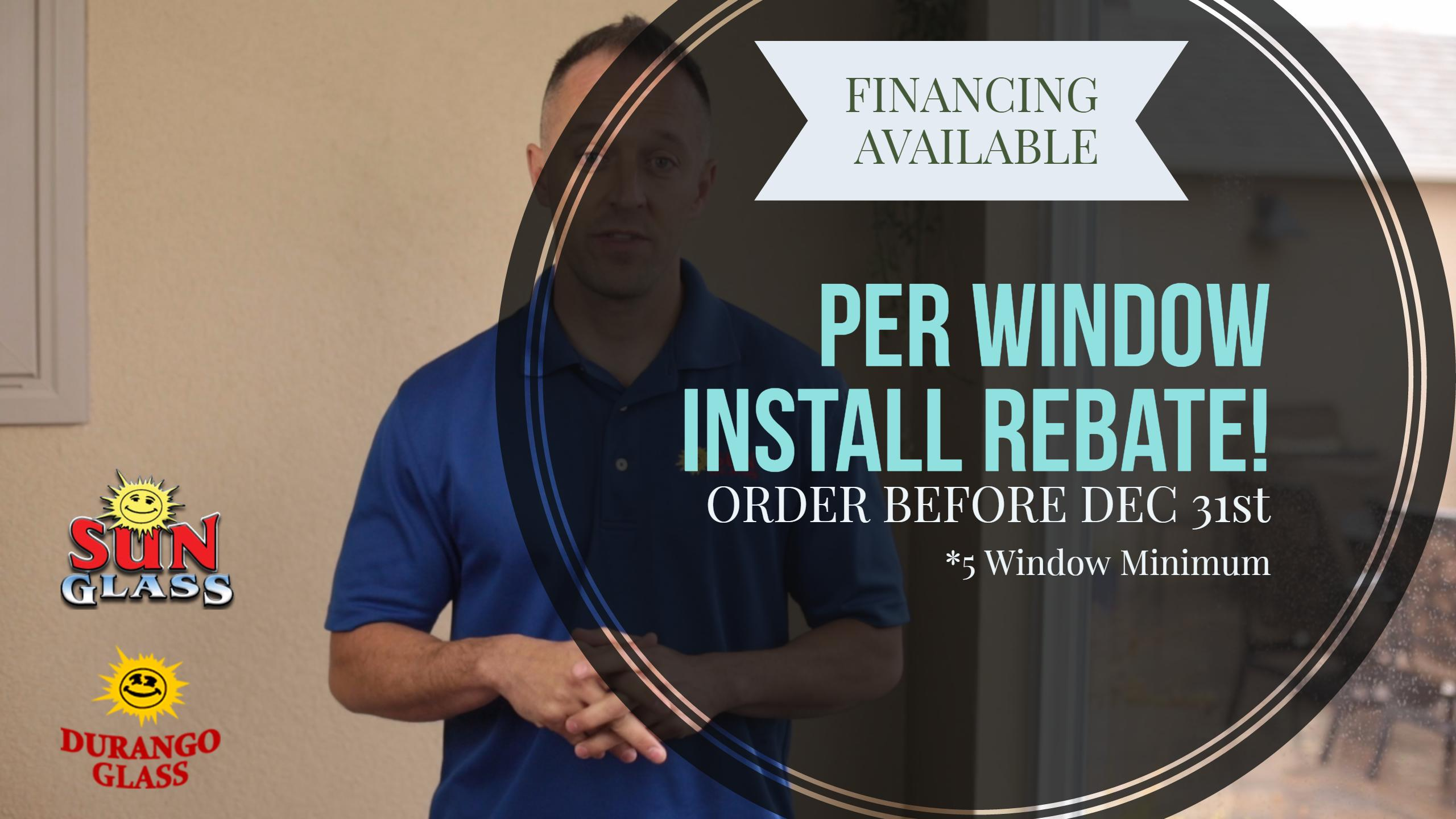 windows rebate in farmington nm through december for installations special